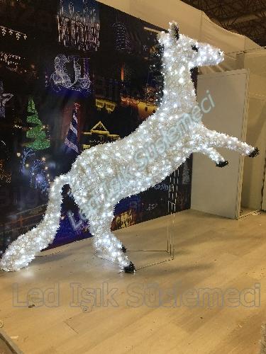 Led Işıklı Yılbaşı Atı