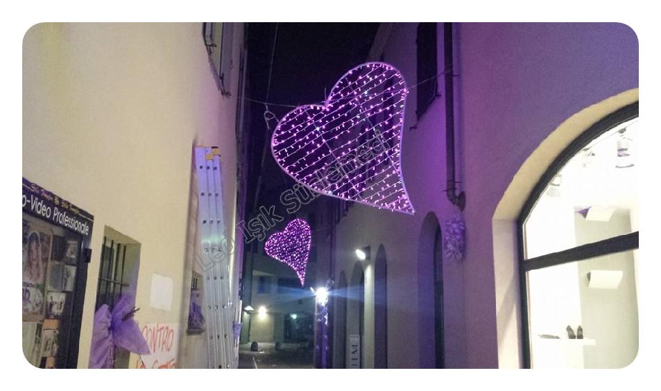 Led Işıklı Kalpler