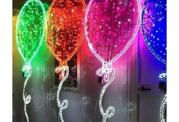 Led Işıklı Dekoratif Balon Süslemeleri